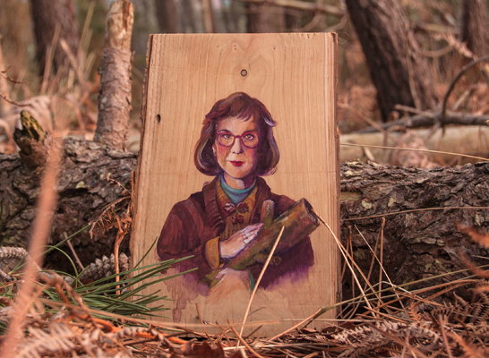 Log Lady in a Log